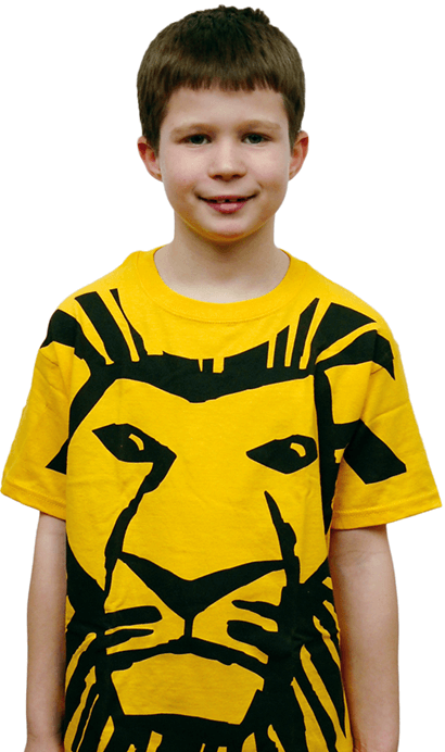 The Lion King the Broadway Musical - All Over Simba Print T-Shirt for Kids