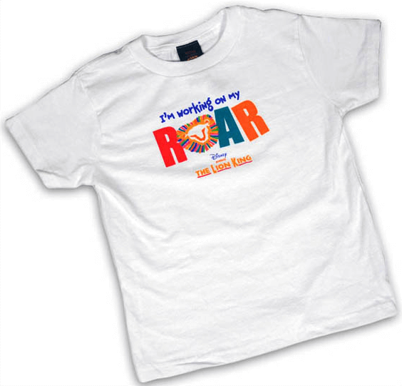 2caaf1e9 The Lion King the Broadway Musical - Im Working on My Roar Toddlers T-Shirt