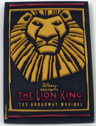 The Lion King the Broadway Musical - Simba Logo Rubber Magnet