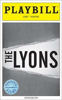 The Lyons Limited Edition Official Opening Night Playbill