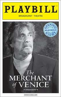 The Merchant of Venice Limited Edition Official Opening Night Playbill