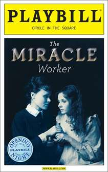 The Miracle Worker Limited Edition Official Opening Night Playbill