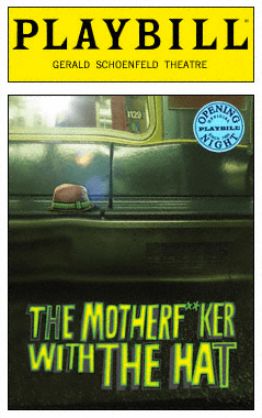 The Motherf**ker With the Hat Limited Edition Official Opening Night Playbill