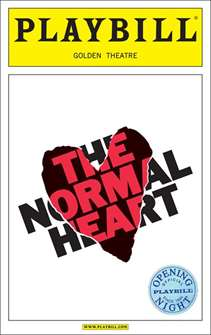 The Normal Heart Limited Edition Official Opening Night Playbill