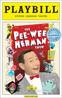 The Pee-wee Herman Show Limited Edition Official Opening Night Playbill
