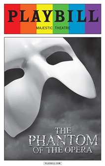 The Phantom of the Opera - June 2015 Playbill with Rainbow Pride Logo