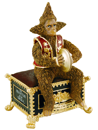 The Phantom of the Opera the Broadway Musical - Animated Monkey Music Box