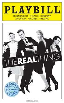 The Real Thing Limited Edition Official Opening Night Playbill (2014 Revival)