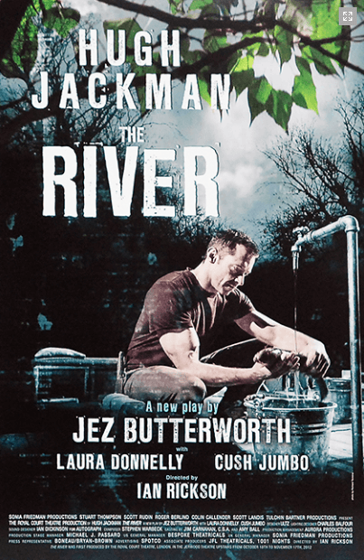 The River Broadway Poster starring Hugh Jackman