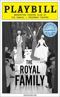 The Royal Family Limited Edition Official Opening Night Playbill