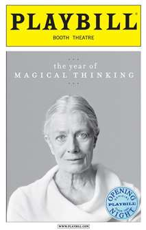 The Year of Magical Thinking Limited Edition Official Opening Night Playbill