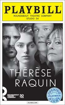 Therese Raquin Limited Edition Official Opening Night Playbill