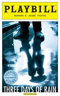 Three Days of Rain Limited Edition Official Opening Night Playbill