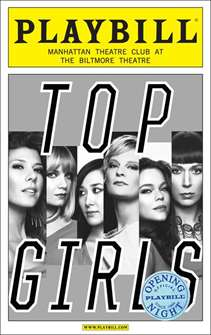 Top Girls Limited Edition Official Opening Night Playbill