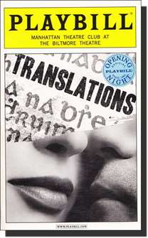 Translations Limited Edition Official Opening Night Playbill