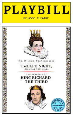 Twelfth Night/Richard the Third in Rep Limited Edition Opening Night Playbill