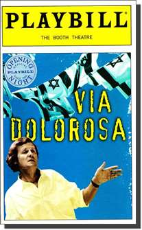 Via Dolorosa Limited Edition Official Opening Night Playbill
