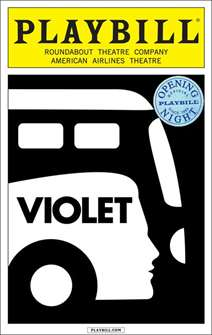 Violet Limited Edition Official Opening Night Playbill