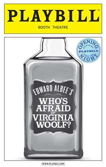 Whos Afraid of Virginia Woolf Limited Edition Official Opening Night Playbill