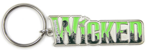 Wicked the Broadway Muscial - Emerald City Skyline Logo Keychain