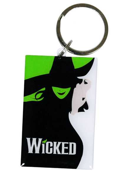 Wicked the Broadway Musical - Aluminum Logo Keychain