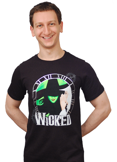 Wicked the Broadway Musical - Clock Logo T-Shirt