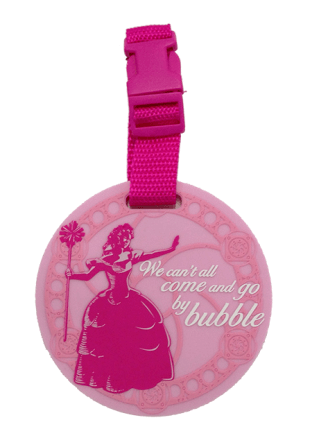 Wicked the Broadway Musical - Glinda Travel by Bubble Luggage Tag