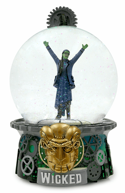 Wicked the Broadway Musical - The Wizard and I Musical Glitter Globe