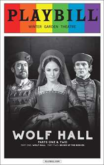 Wolf Hall - June 2015 Playbill with Rainbow Pride Logo