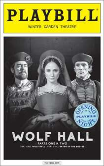 Wolf Hall Limited Edition Official Opening Night Playbill