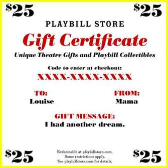 Gift Certificates - Store gift certificate template