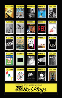 Playbill 25 Years of Tony Award-Winning Best Plays Poster