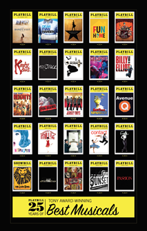 Playbill 25 Years of Tony Award-Winning Best Musicals Poster