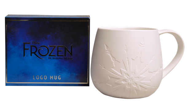 Frozen the Broadway Musical White Logo Mug