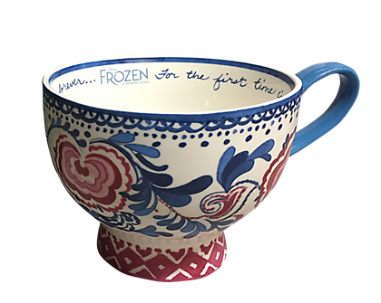 Frozen the Broadway Musical Rosemaling Mug