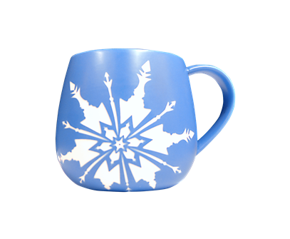 Frozen the Broadway Musical Blue Logo Mug