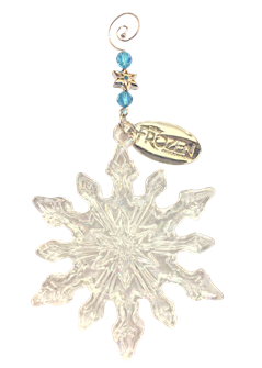 Frozen Glass Snowflake Ornament