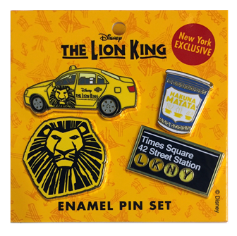 Lion King the Broadway Musical Pin Set
