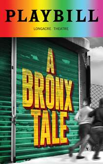 A Bronx Tale - June 2018 Playbill with Rainbow Pride Logo