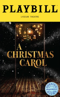 A Christmas Carol Limited Edition Official Opening Night Playbill