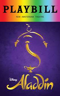 Aladdin - June 2018 Playbill with Rainbow Pride Logo