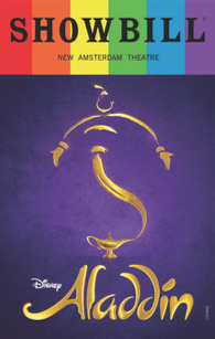 Aladdin - June 2017 Playbill with Rainbow Pride Logo