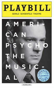 American Psycho Limited Edition Official Opening Night Playbill
