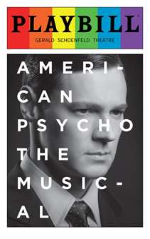 American Psycho - June 2016 Playbill with Rainbow Pride Logo