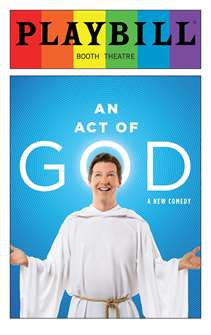 An Act of God - June 2016 Playbill with Rainbow Pride Logo