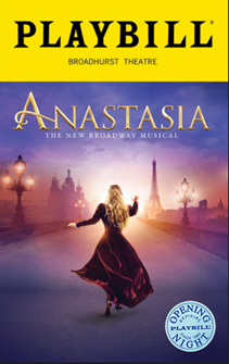 Anastasia the Broadway Musical Limited Edition Official Opening Night Playbill