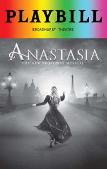 Anastasia - June 2018 Playbill with Rainbow Pride Logo