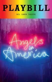 Angels in America: Millennium Approaches and Perestroika - June 2018 Playbill with Rainbow Pride Logo