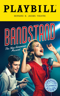 Bandstand the New American Broadway Musical Limited Edition Official Opening Night Playbill