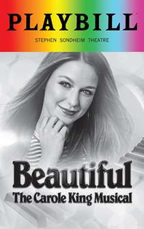 Beautiful The Carole King Musical - June 2018 Playbill with Rainbow Pride Logo